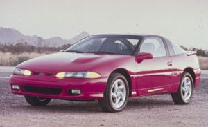 1992 Eagle Talon TSi AWD, Plymouth Laser KS Turbo AWD, and Mitsubishi Eclipse GSX