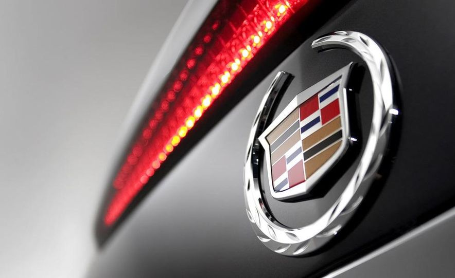 2009 Cadillac CTS-V badge and high-mounted brake light - Slide 1