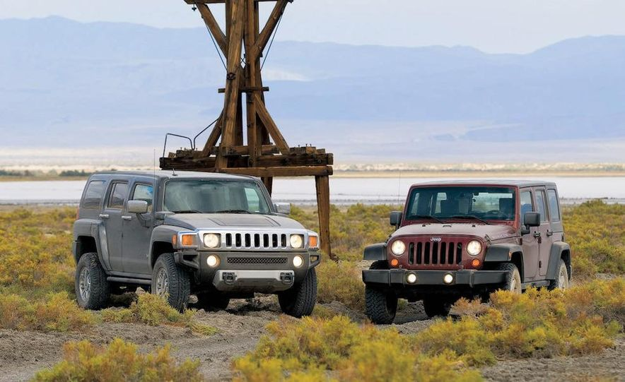 2008 Hummer H3 Alpha and Jeep Wrangler Unlimited Rubicon - Slide 2
