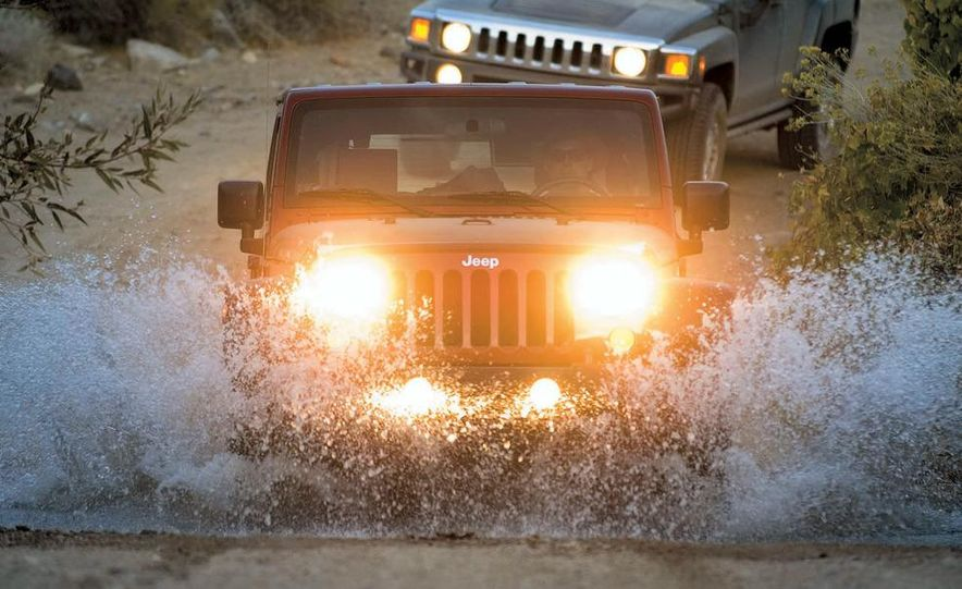 2008 Hummer H3 Alpha and Jeep Wrangler Unlimited Rubicon - Slide 10