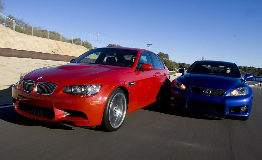2008 Lexus IS F and 2008 BMW M3 - Slide 4