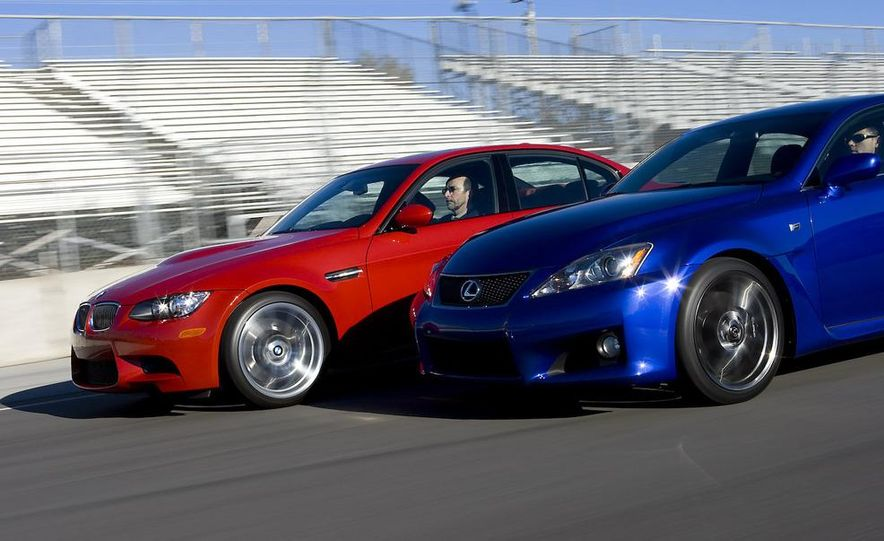 2008 Lexus IS F and 2008 BMW M3 - Slide 5