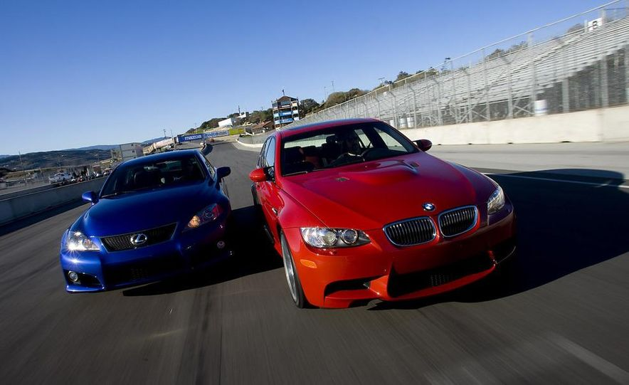 2008 Lexus IS F and 2008 BMW M3 - Slide 1