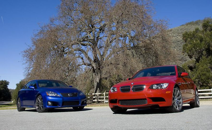 2008 Lexus IS F and 2008 BMW M3 - Slide 3