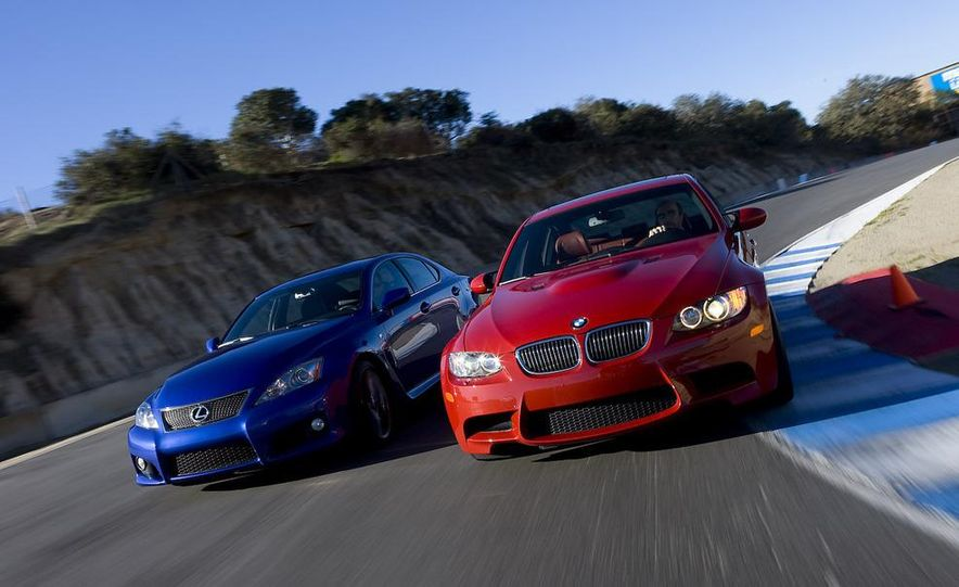 2008 Lexus IS F and 2008 BMW M3 - Slide 6
