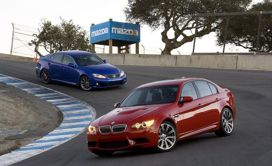 2008 Lexus IS F and 2008 BMW M3 - Slide 7