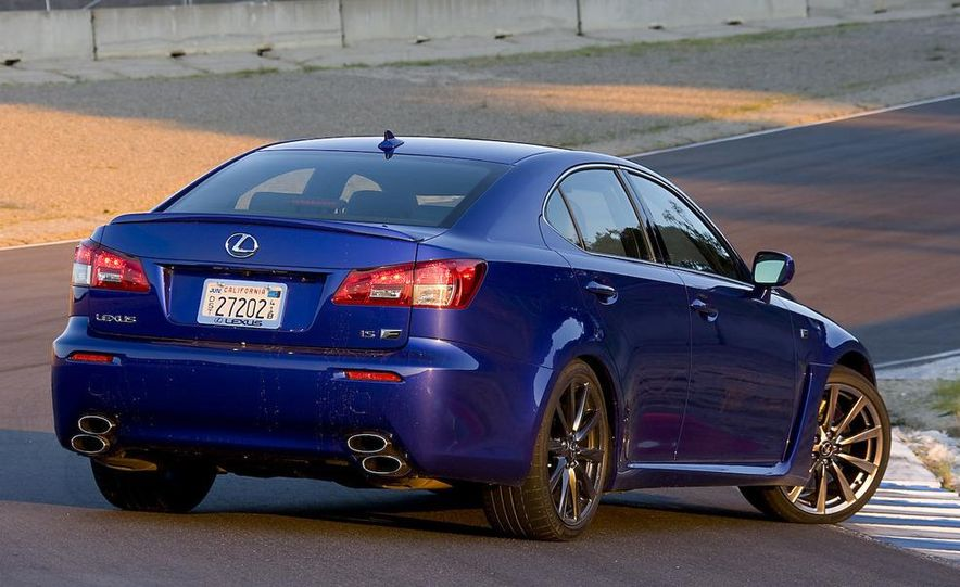 2008 Lexus IS F and 2008 BMW M3 - Slide 10