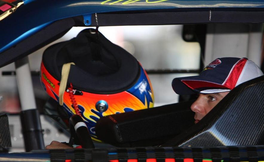 Jeff Gordon, the driver Rick Hendrick says really put his organization on the map, prepares for practice. - Slide 1