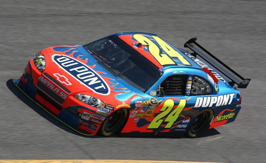 Jeff Gordon, the driver Rick Hendrick says really put his organization on the map, prepares for practice. - Slide 3
