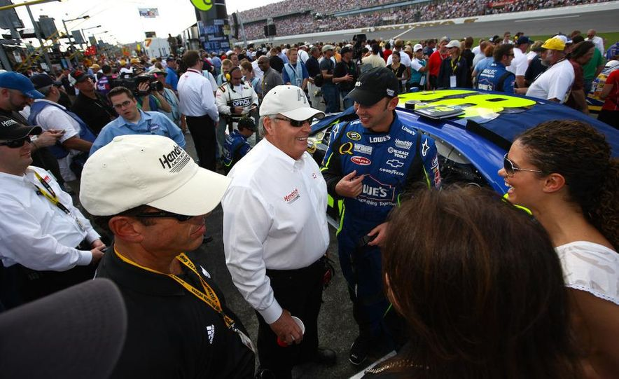 Jeff Gordon, the driver Rick Hendrick says really put his organization on the map, prepares for practice. - Slide 15
