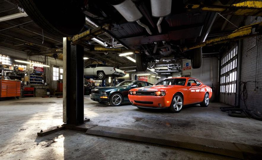 2008 Ford Mustang Bullitt and 2008 Dodge Challenger SRT8 - Slide 1