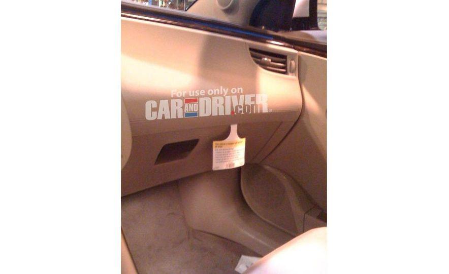 2010 Buick LaCrosse steering wheel and instrument cluster - Slide 5