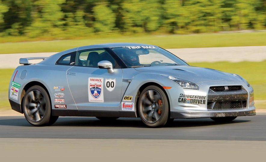 Nissan GT-R was at its best on wide-open tracks with fast corners. - Slide 1