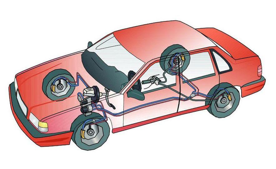 Anti-lock Brake System (ABS) illustration - Slide 1