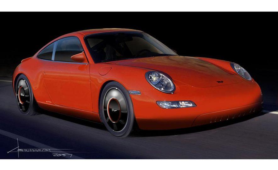 Ruf eRuf Concept Model A motor cover illustration - Slide 3