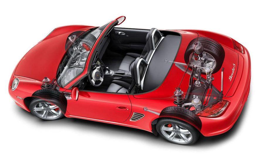 2009 Porsche Boxster S 3.4-liter flat-6 engine illustration - Slide 5