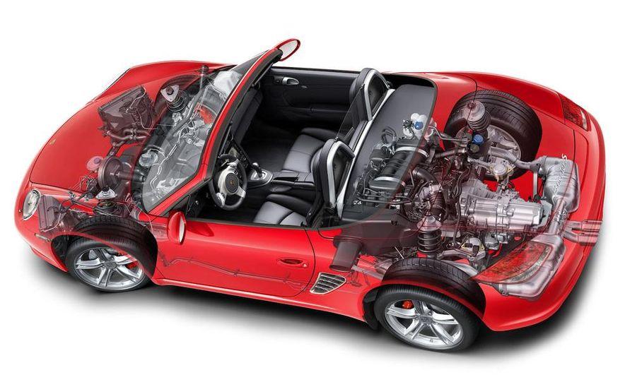 2009 Porsche Boxster S 3.4-liter flat-6 engine illustration - Slide 6