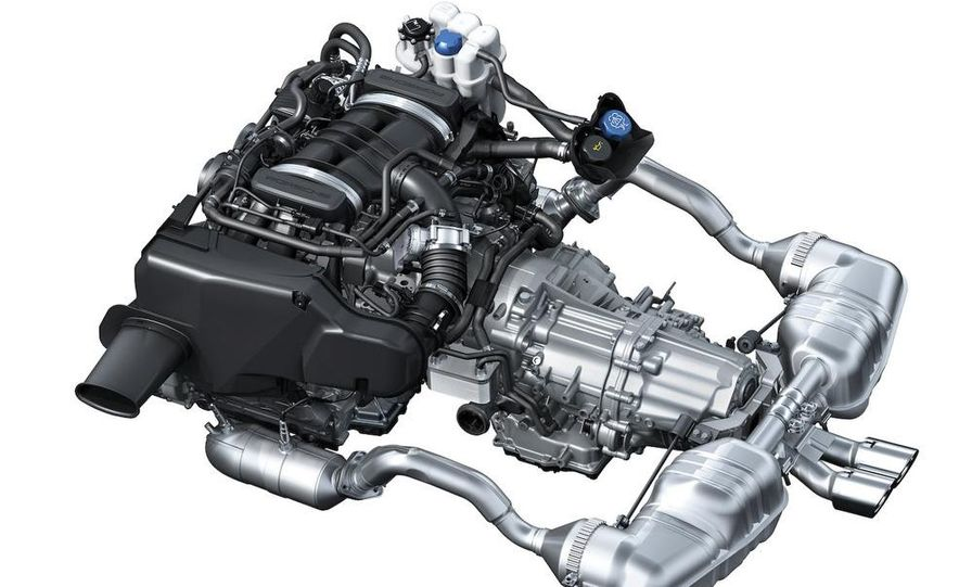 2009 Porsche Boxster S 3.4-liter flat-6 engine illustration - Slide 3