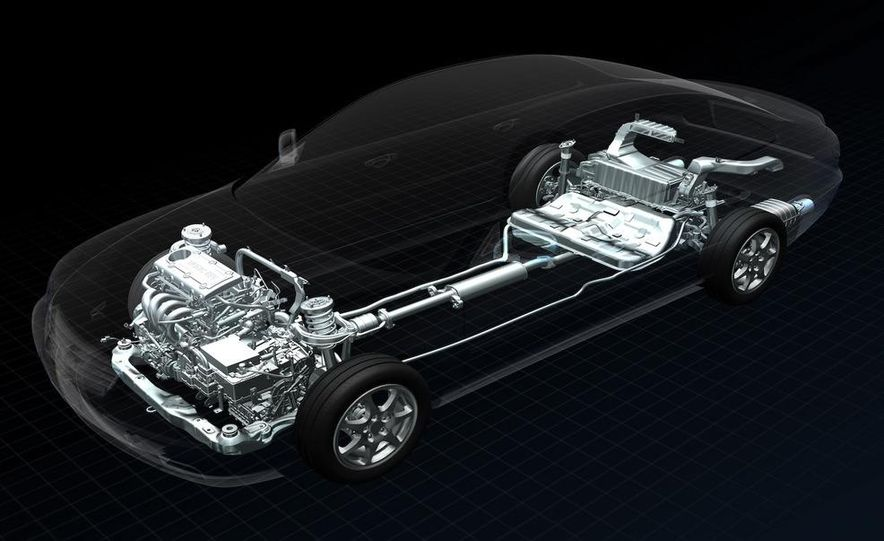 Hyundai hybrid Blue Drive chassis illustration - Slide 1