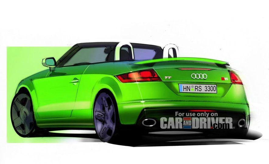 2010 Audi TT RS roadster illustration - Slide 1