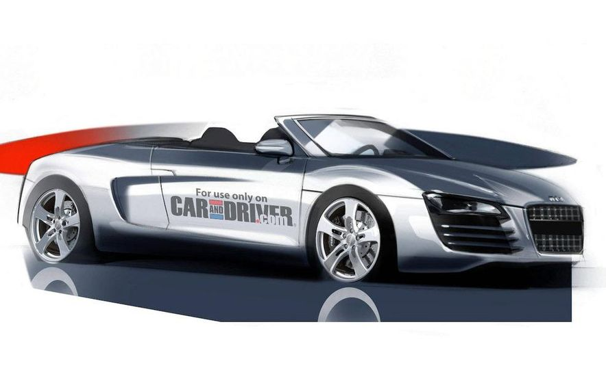 2011 Audi R8 Spyder illustration - Slide 1