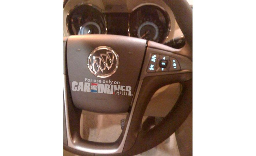 2010 Buick LaCrosse steering wheel and instrument cluster (spy photo) - Slide 1