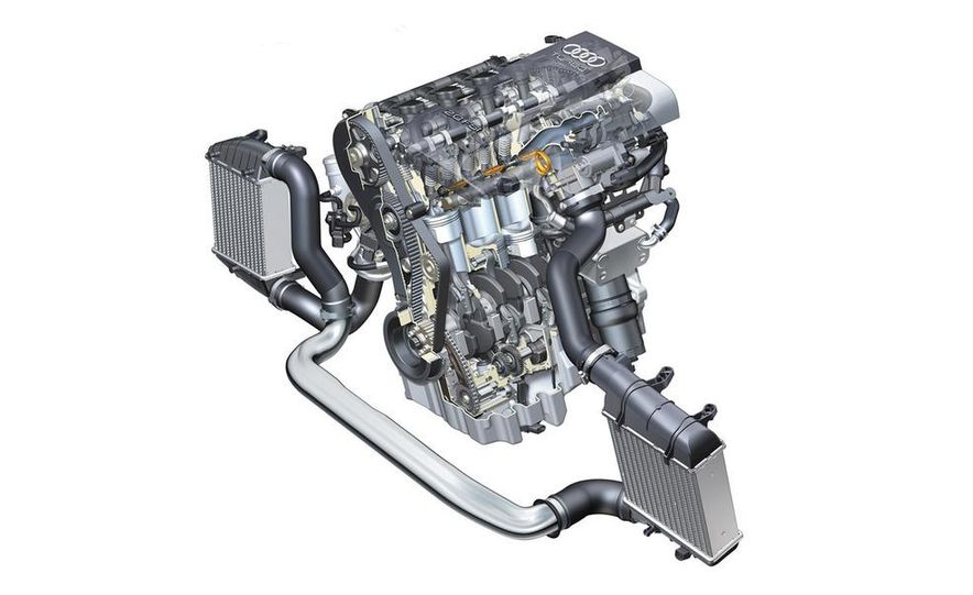 Audi A4 2.0-liter turbocharged inline-4 engine - Slide 1