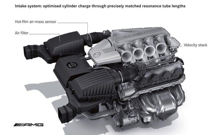 2011 Mercedes-Benz SLS AMG dry-sump oil lubrication system diagram - Slide 12