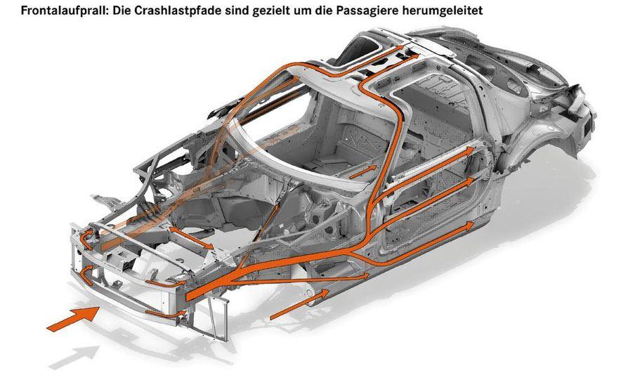 2011 Mercedes-Benz SLS AMG dry-sump oil lubrication system diagram - Slide 8