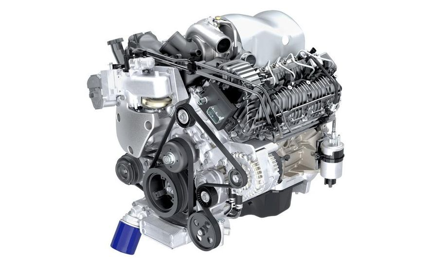 Duramax 4.5-liter V-8 diesel engine (illustration) - Slide 1