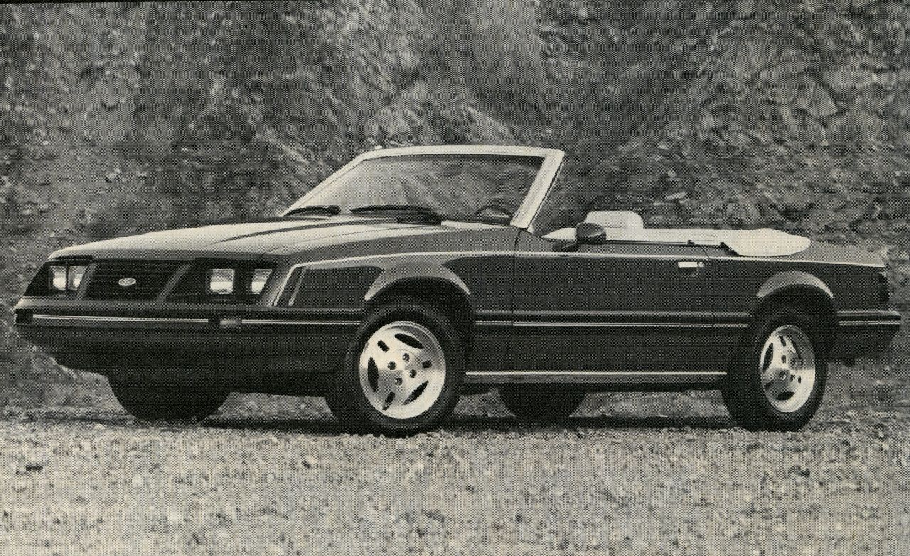 1983 ford mustang convertible review car and driver. Black Bedroom Furniture Sets. Home Design Ideas