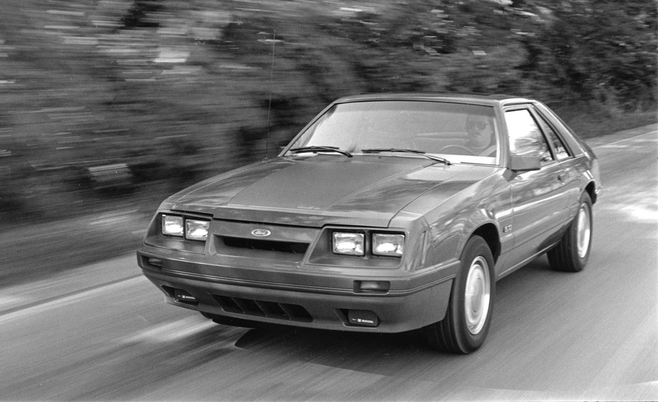 1985 ford mustang gt review car and driver
