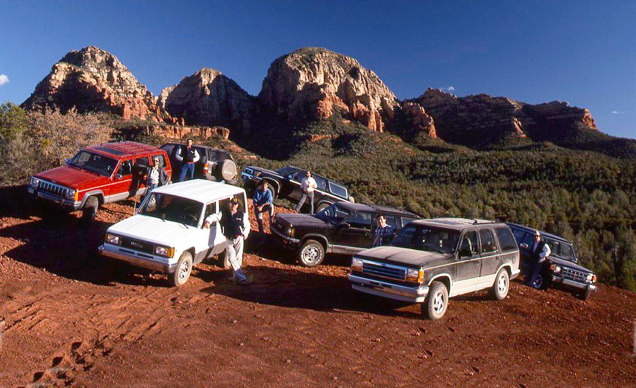 1991 Ford Explorer Eddie Bauer vs. GMC S-15 Jimmy SLX, Isuzu Trooper LS, Jeep Cherokee Laredo, Mitusbishi Montero LS, Nissan Pathfinder SE, and Toyota 4Runner SR5   Archived Comparison Test