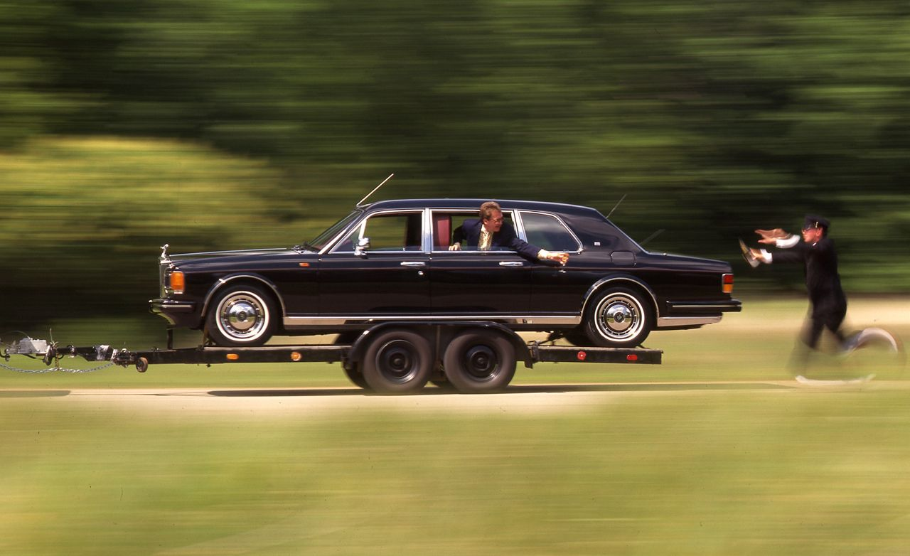 1993 rolls royce silver spur ii touring limousine archived test review car and driver