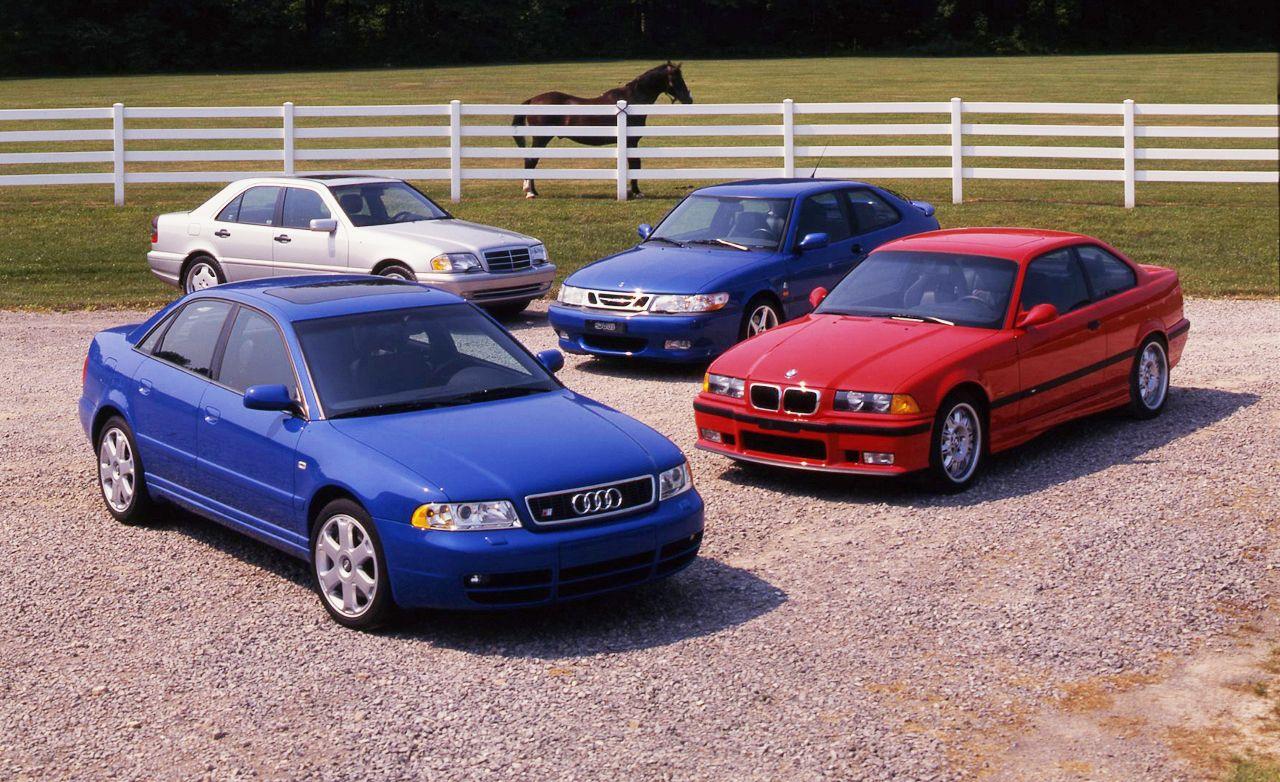 Audi S4 Quattro vs. BMW M3, Mercedes-Benz C43 AMG, Saab 9-3 Viggen