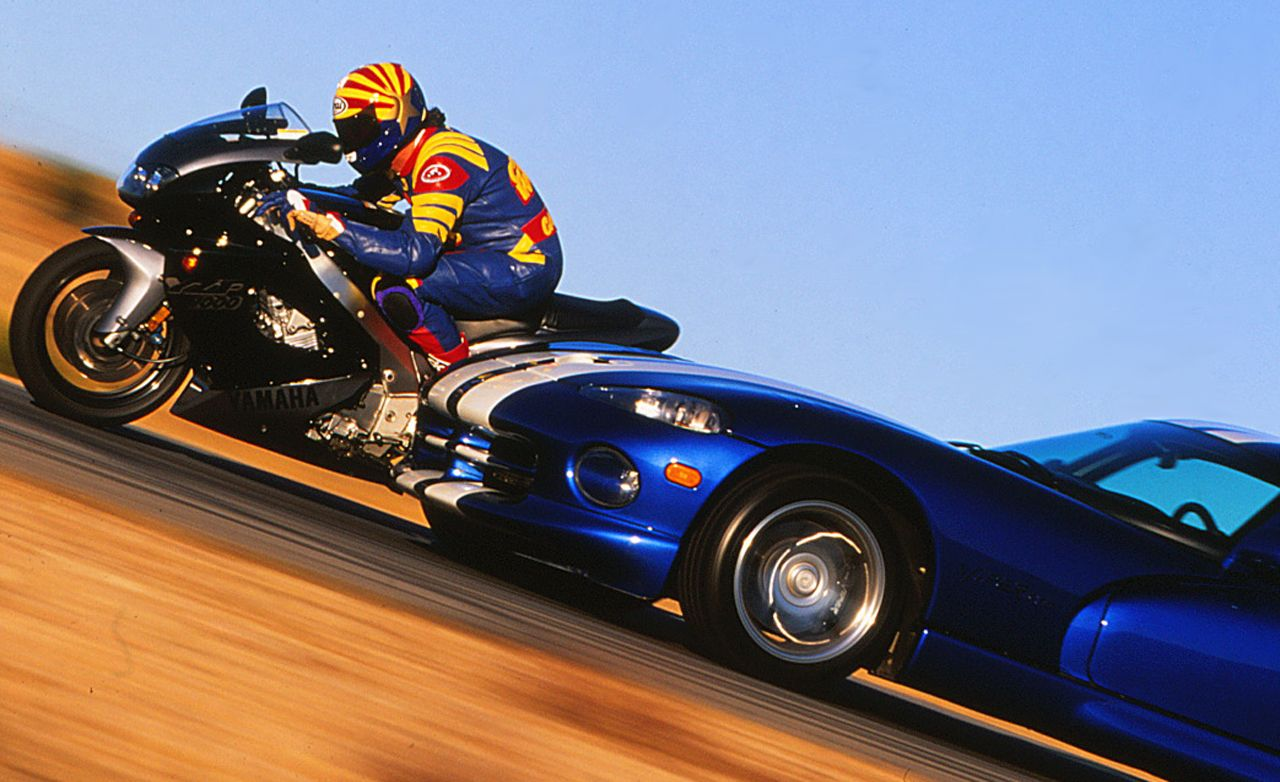 Car vs. Bike: Dodge Viper GTS vs. Yamaha YZF1000R | Comparison Test