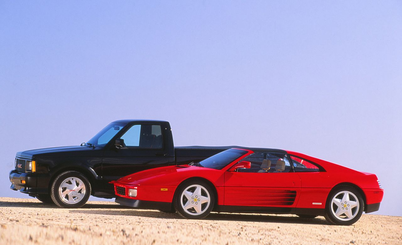 GMC Syclone vs. Ferrari 348ts | Archived Comparison Test ...