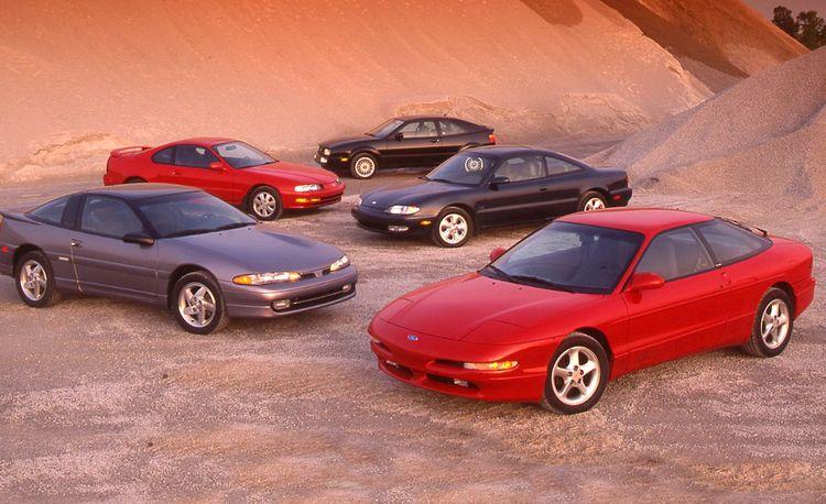 Honda Prelude Si vs. Ford Probe GT, Mazda MX-6 LS, Mitsubishi Eclipse GSX, Volkswagen Corrado SLC