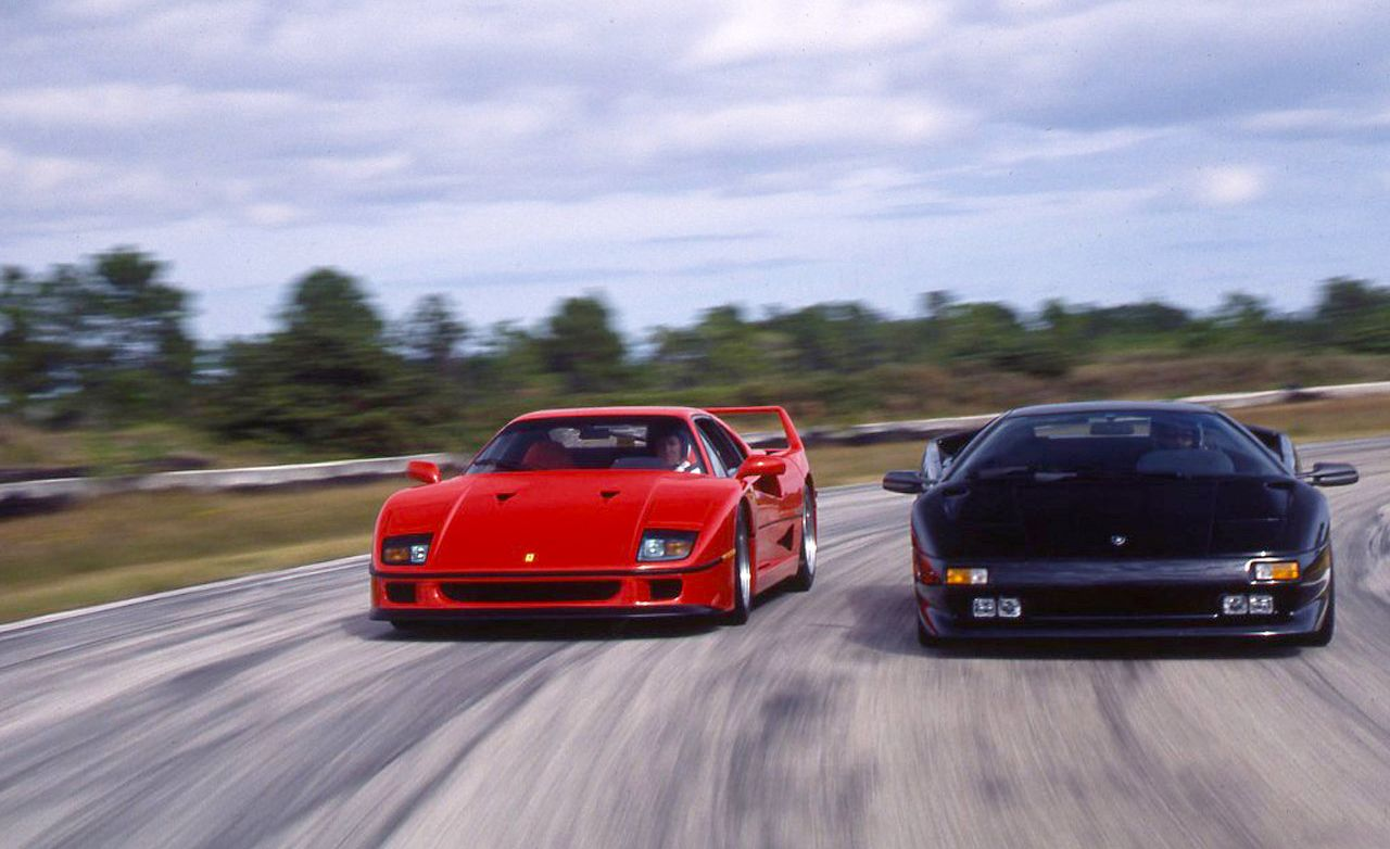 Judgment Day Ferrari F40 Meets Lamborghini Diablo Archived Comparison Test Car And Driver