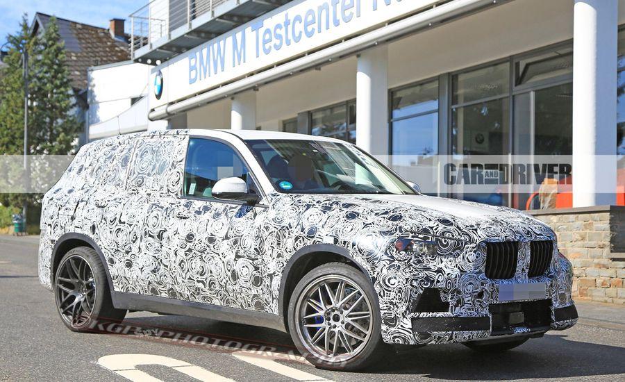 2019 bmw x5 m spied news car and driver. Black Bedroom Furniture Sets. Home Design Ideas
