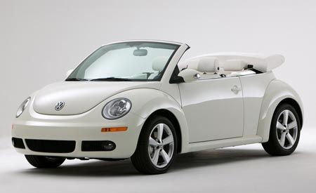 2007 Volkswagen Triple White New Beetle Convertible
