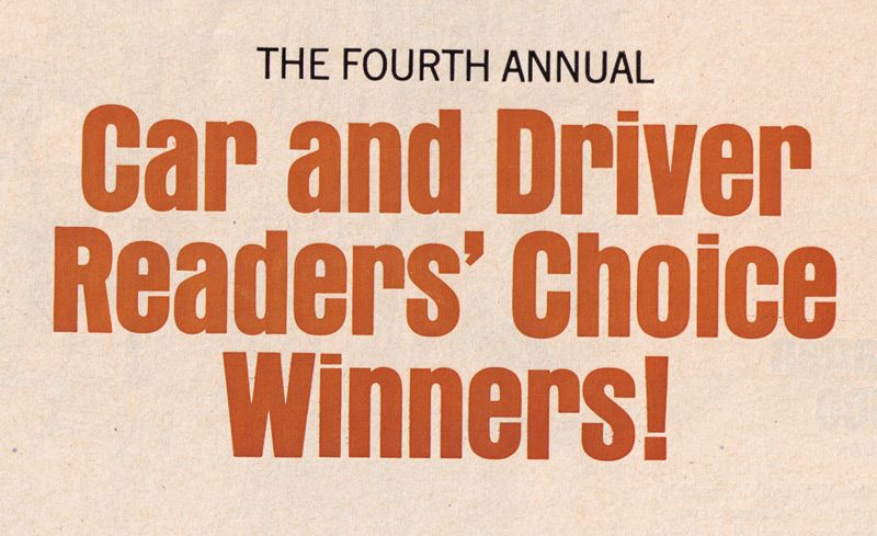 1967 Readers' Choice Winners