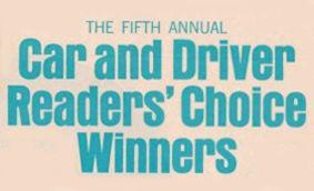 1968 Readers' Choice Winners
