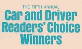 1968 Readers' Choice Winners