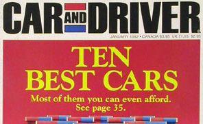 1992 10Best Cars