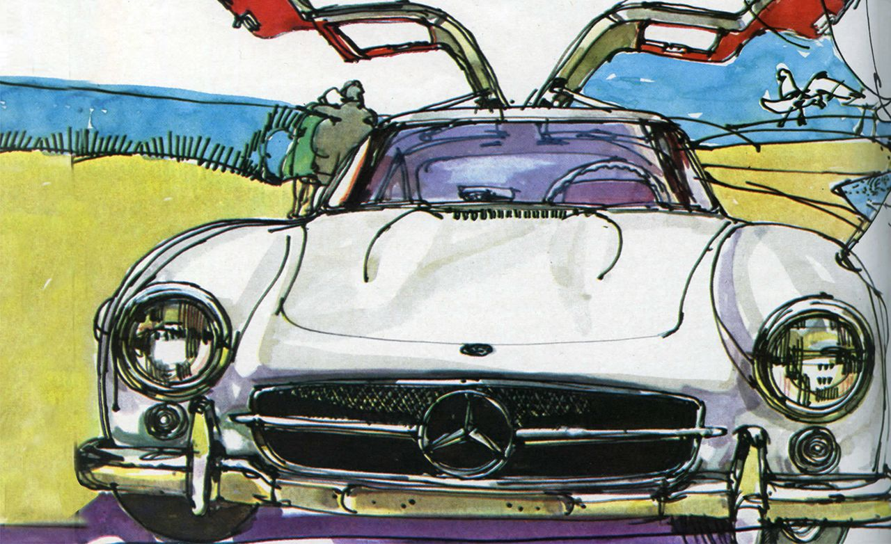 Superb The Mercedes Benz Gullwing: It Was Already A Legend 10 Years After Its  Introduction