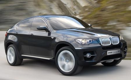 2009 BMW Concept X6 and 2010 X6 ActiveHybrid