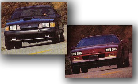 1985: Chevy Camaro Berlinetta vs. Ford Mustang SVO