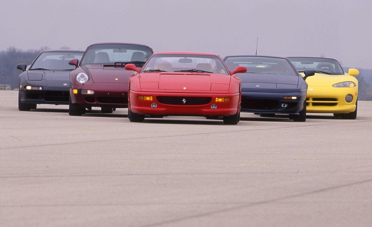 Dodge Viper RT/10, Ferrari F355, Lotus Esprit S4S, Porsche 911 Turbo  – Archived Comparison Test – Car and Driver