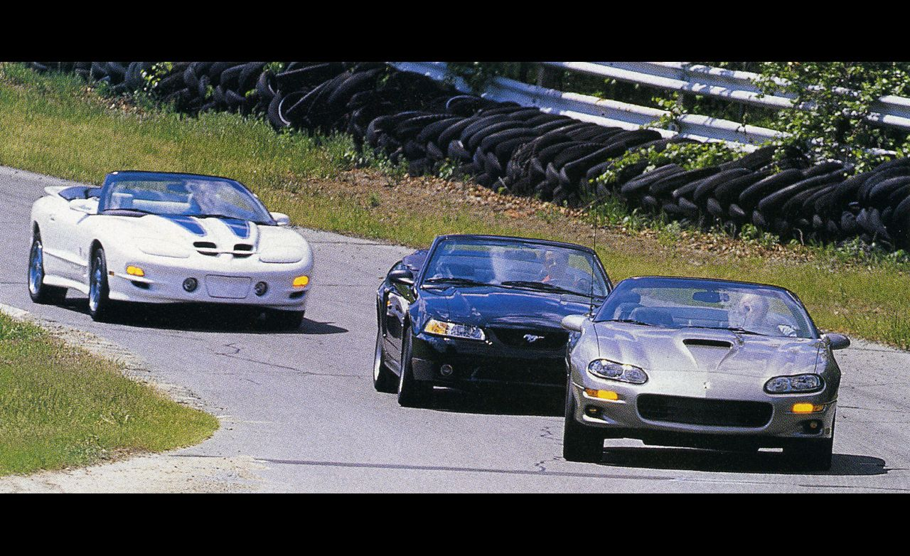 1999 Ford Mustang Cobra Convertible vs. Chevrolet Camaro SS Convertible, Pontiac Trans-Am Convertible